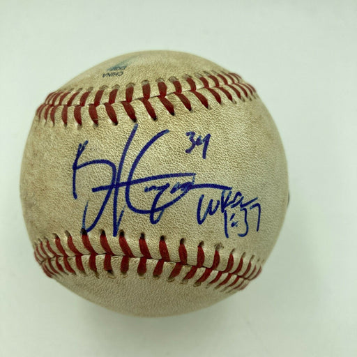 Historic Bryce Harper MLB Debut 10-20-2010 Signed Game Used Baseball JSA COA