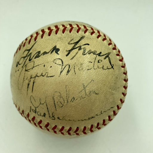 1935 All Star Game Team Signed Baseball Mel Ott Arky Vaughan Paul Waner JSA COA