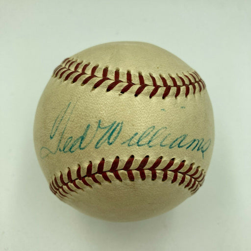 Ted Williams Signed 1950's Official National League Giles Baseball With JSA COA