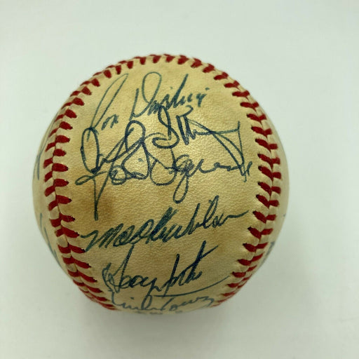 1984 New York Mets Team Signed National League Vintage Feeney Baseball