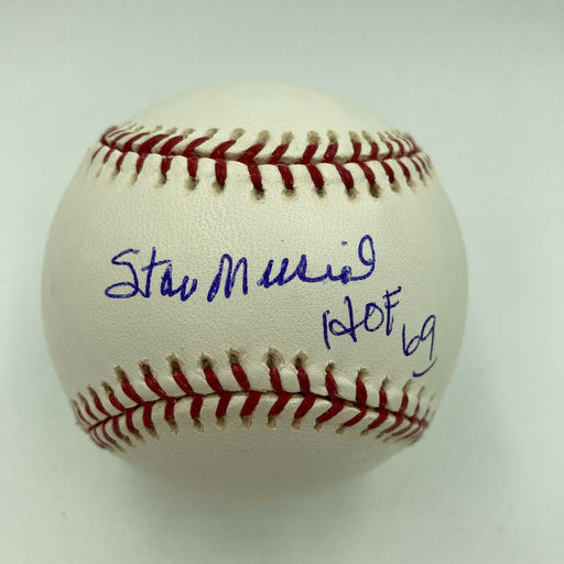 Nice Stan Musial Hall Of Fame 1969 Signed Major League Baseball JSA COA