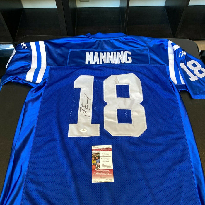 Peyton Manning Signed Authentic Reebok Indianapolis Colts Game Jersey JSA COA