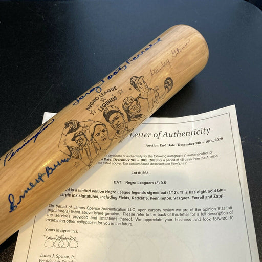 Rare Negro League Legends Multi Signed Baseball Bat With JSA COA