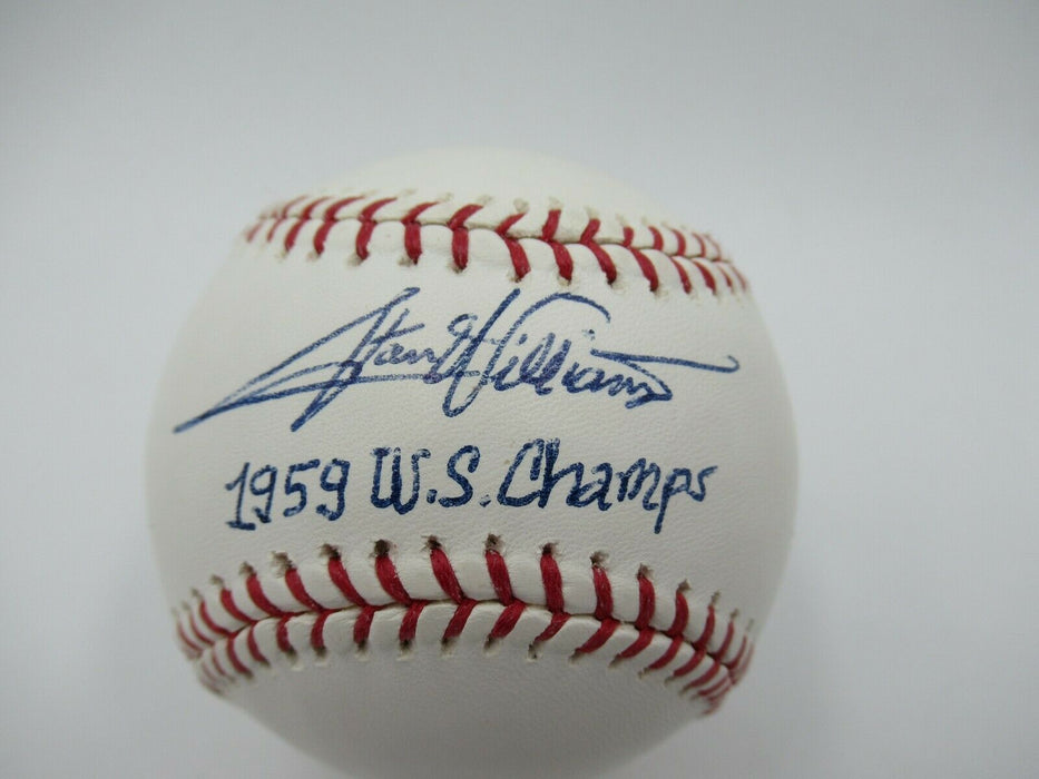 Stan Williams 1959 W.S. Champs  Signed Autographed Major League Baseball JSA COA