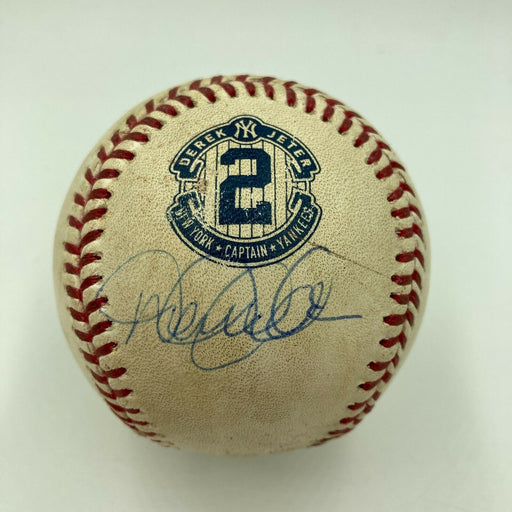 Derek Jeter Signed Game Used Final Homestand Baseball Steiner & MLB Authentic