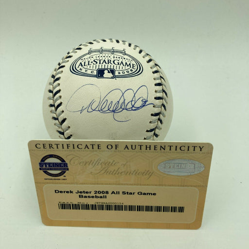Derek Jeter Signed 2008 All Star Game Baseball With Steiner COA Yankee Stadium