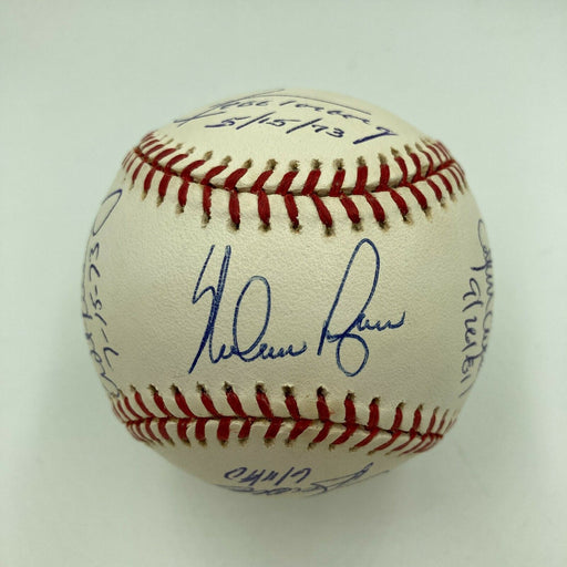 Rare Nolan Ryan 7 No Hitters Signed Baseball With All 7 Catchers MLB Authentic