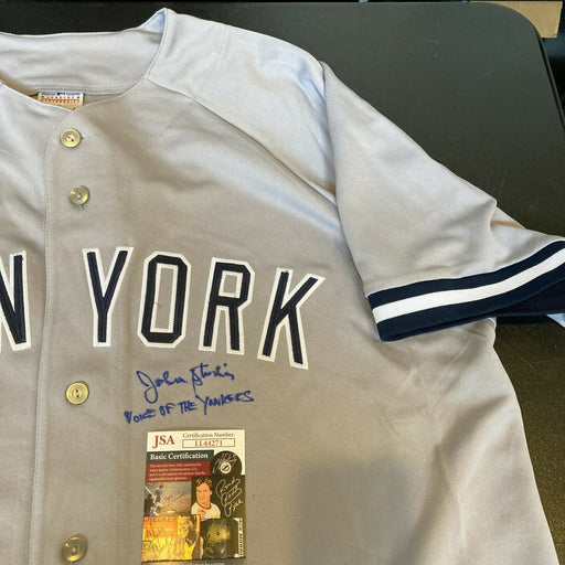 "John Sterling ""Voice Of The Yankees"" Signed NY Yankees Derek Jeter Jersey JSA"