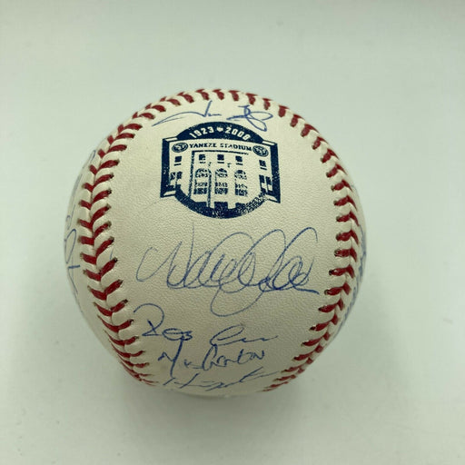 2008 New York Yankees Team Signed Baseball Derek Jeter Mariano Rivera Steiner