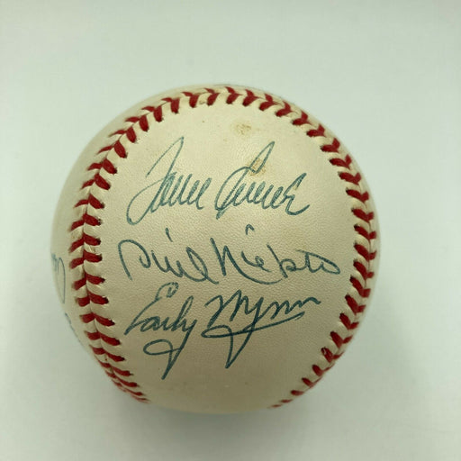 300 Win Club Signed Baseball Nolan Ryan Tom Seaver Warren Spahn 8 Sigs JSA COA