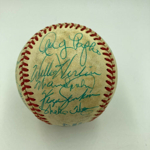Hall Of Fame Greats Multi Signed Baseball Eddie Mathews Warren Spahn JSA COA