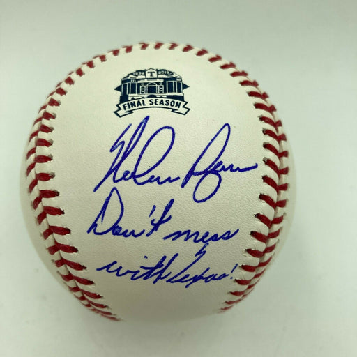 "Mint Nolan Ryan ""Don't Mess With Texas"" Signed Major League Baseball JSA COA"