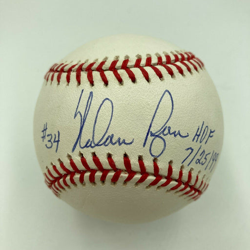 Mint Nolan Ryan Hall Of Fame 7-25-1999 Signed American League Baseball JSA COA