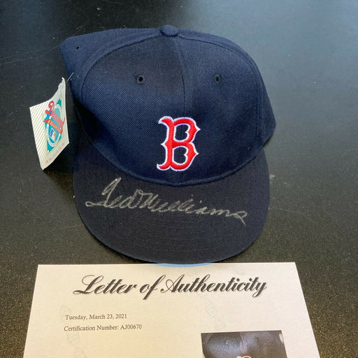 Ted Williams Signed Boston Red Sox Authentic Game Model Hat With PSA DNA COA