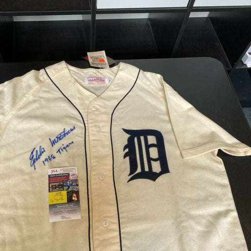 "Eddie Mathews ""1968 Tigers"" Signed Authentic Detroit Tigers Jersey JSA COA"