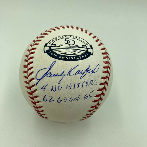 Sandy Koufax No Hitter 1962 1963 1964 1965 Signed Baseball MLB Authenticated
