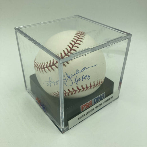 Reggie Jackson HOF 1993 Signed MLB Baseball PSA DNA Graded GEM MINT 10