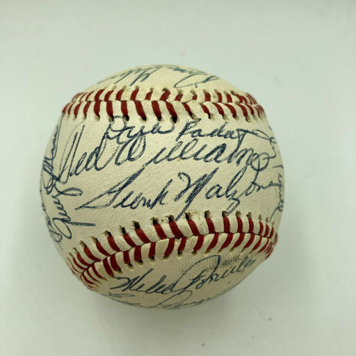 1982 Boston Red Sox Old Timers Day Signed Baseball Ted Williams Yastrzemski JSA