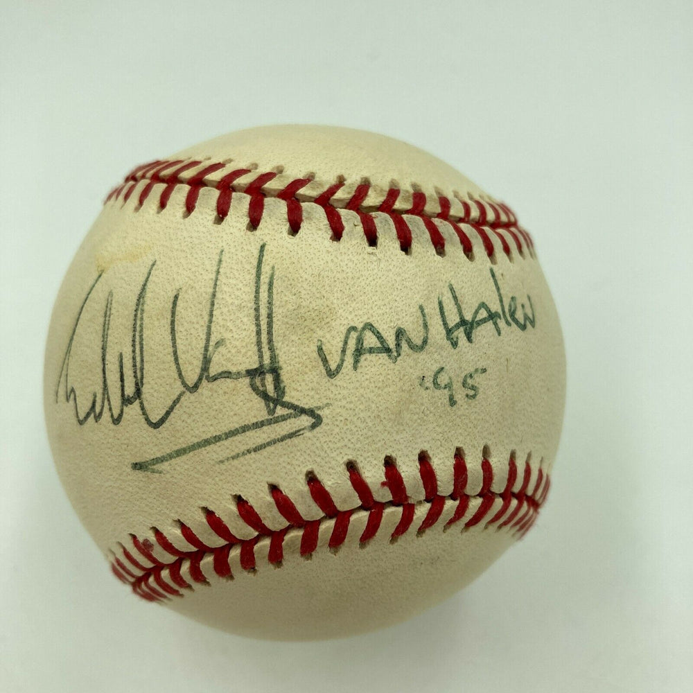 Rare Eddie Van Halen 1995 Single Signed Autographed Baseball With JSA COA