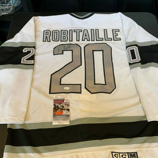 Luc Robitaille Signed Game Used 1980's Los Angeles Kings Jersey JSA Heavy Use