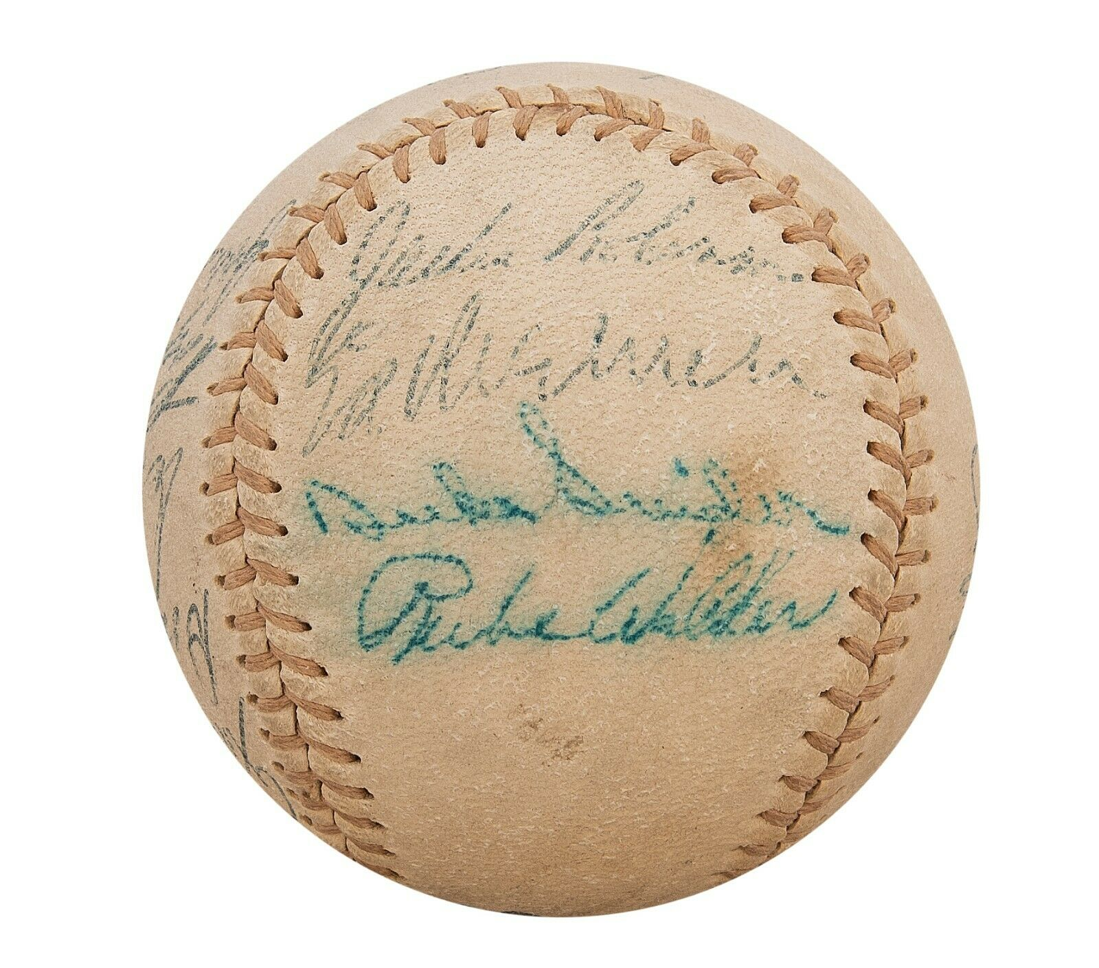 1955 Brooklyn Dodgers W.S. Champs Team Signed Baseball Jackie Robinson JSA COA
