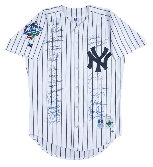1998 Yankees Team Signed World Series Jersey Derek Jeter Mariano Rivera Beckett