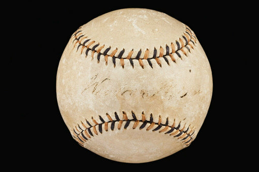 President Woodrow Wilson Single Signed 1917 National League Baseball PSA & JSA