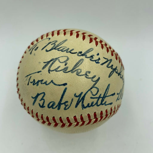 The Finest Babe Ruth Single Signed Baseball PSA DNA Graded GEM MINT 10