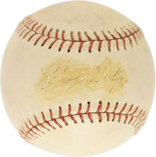 Rare Hugh Duffy Single Signed Autographed Baseball JSA COA Boston Red Sox HOF