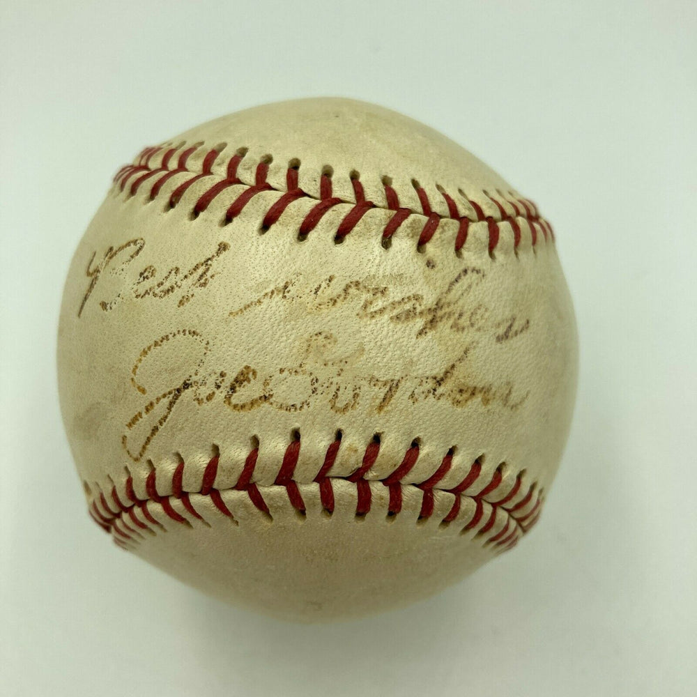 Rare Joe Gordon Single Signed Autographed Baseball HOF With JSA COA