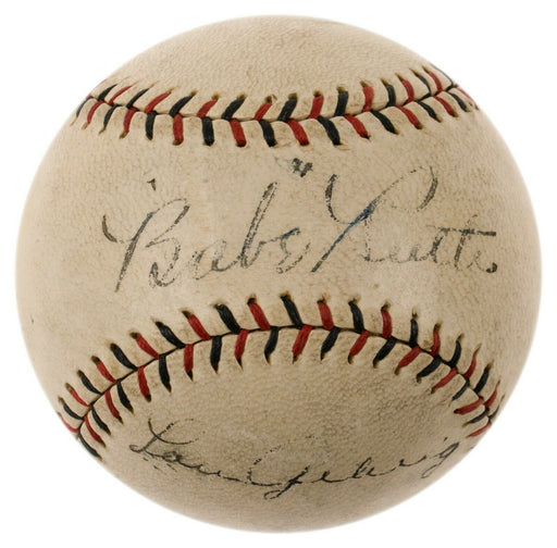 Magnificent Babe Ruth & Lou Gehrig Dual Signed 1927 National League Baseball JSA