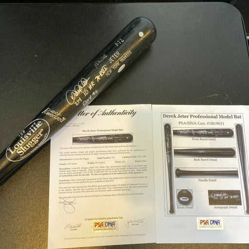 Derek Jeter Signed Heavily Inscribed 1996 Rookie Of The Year Game Used Bat PSA