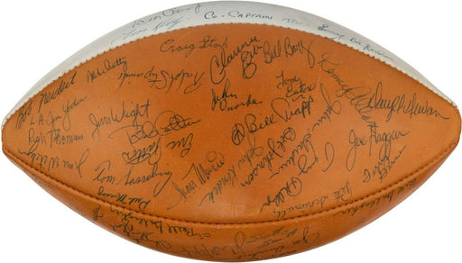 1970 Notre Dame Fighting Irish NCAA National Champions Team Signed Football PSA
