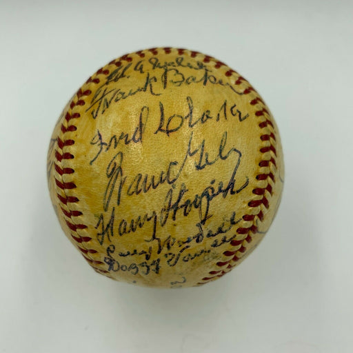 Cy Young Jimmie Foxx Tris Speaker Hall Of Fame Signed Baseball 27 Sigs PSA & JSA