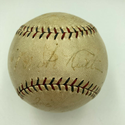 1927 New York Yankees Team Signed Baseball Babe Ruth & Lou Gehrig With JSA COA