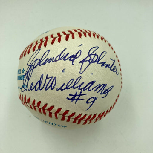 Stunning Ted Williams Splendid Splinter #9 Signed Inscribed Baseball JSA COA
