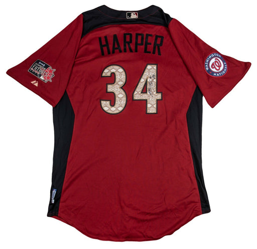 Bryce Harper Rookie Signed 2011 All Star Game Futures Team USA Jersey Beckett