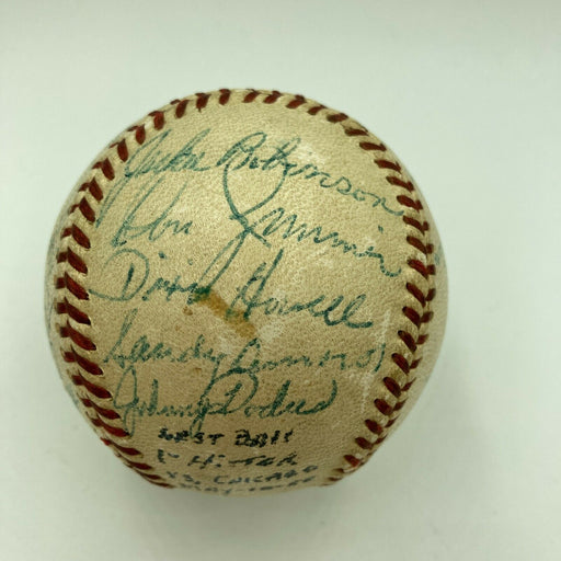Magnificent 1955 Brooklyn Dodgers Team Signed Baseball Jackie Robinson JSA COA