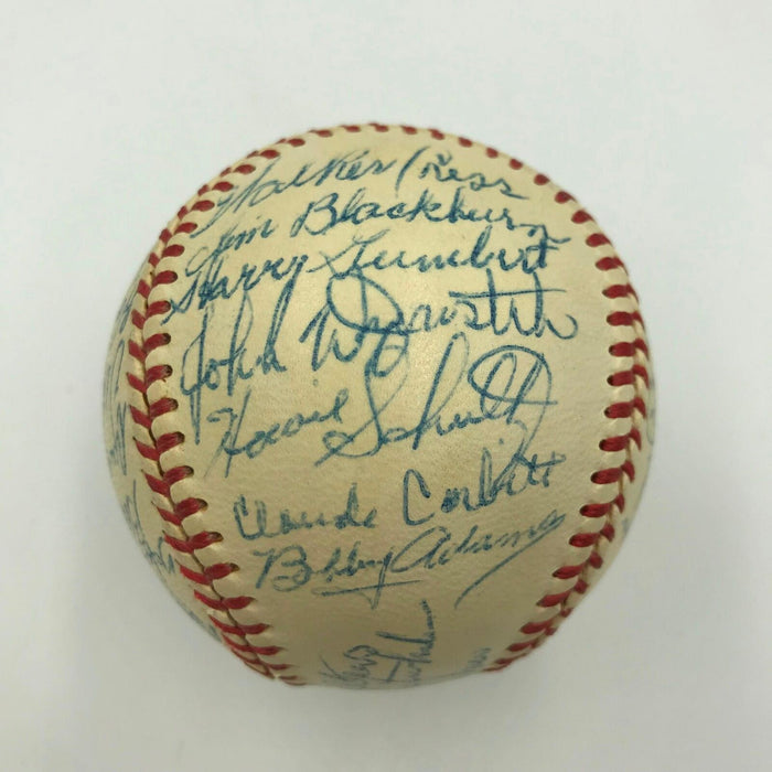 The Finest 1948 Cincinnati Reds Team Signed National League Baseball JSA COA