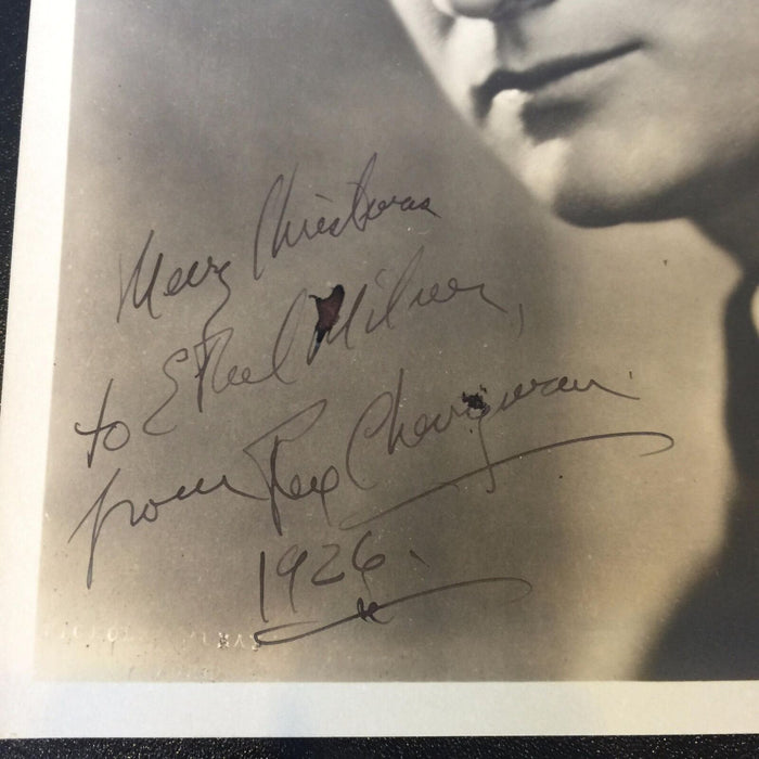 Rare Rex Cherryman Signed Autographed Photo Deceased 1928