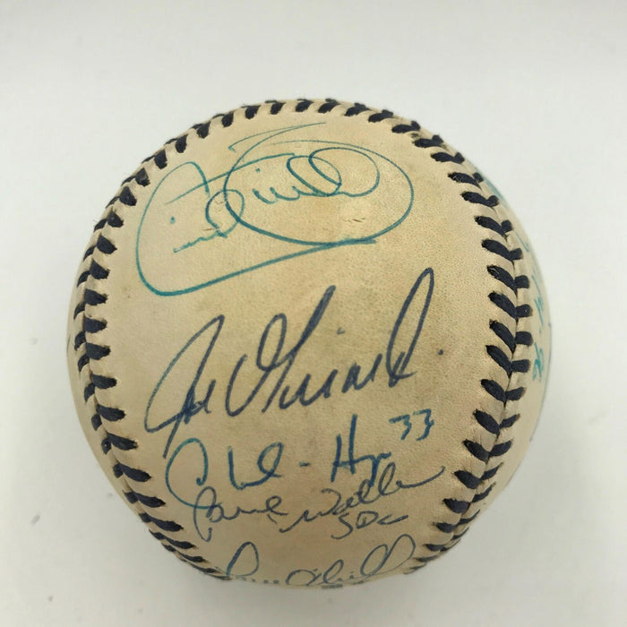 1996 Yankees WS Champs Team Signed Mickey Mantle Day Baseball Mariano Rivera JSA