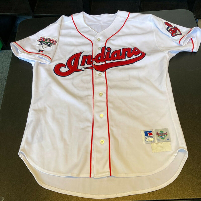Rare Jim Thome Signed Game Used 1995 Cleveland Indians Jersey JSA COA
