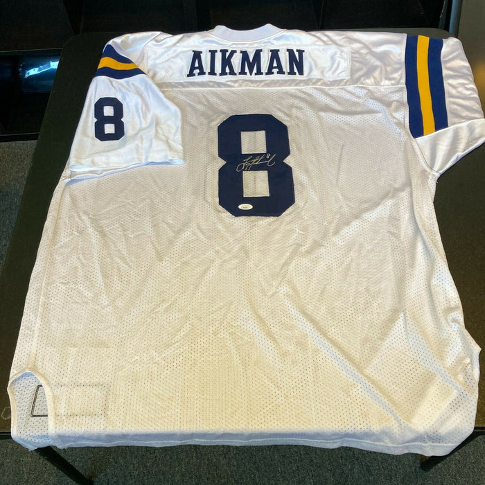 Beautiful Troy Aikman Signed Authentic 1987 UCLA Bruins College Jersey JSA COA