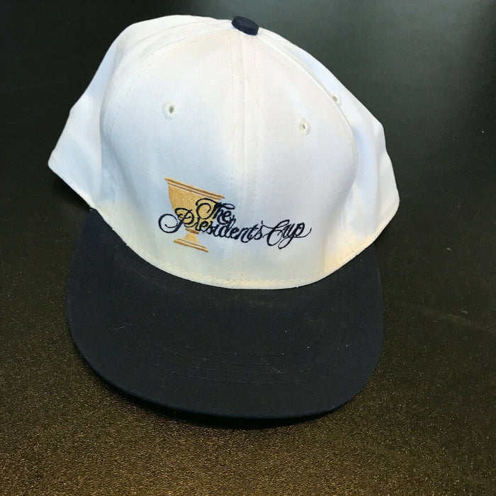 Tiger Woods Signed Autographed 1998 The Presidents Cup Hat Cap PGA With JSA COA