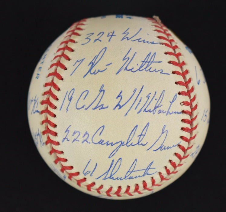 Beautiful Nolan Ryan Signed Heavily Inscribed STAT Baseball Reggie Jackson COA