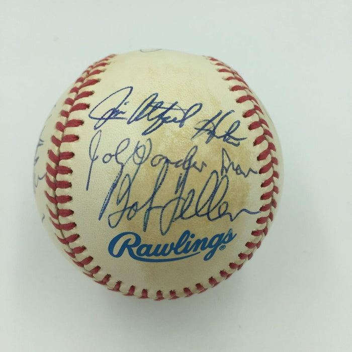 Rare No Hitter Pitchers Club Multi Signed Baseball With 14 Sigs PSA DNA COA