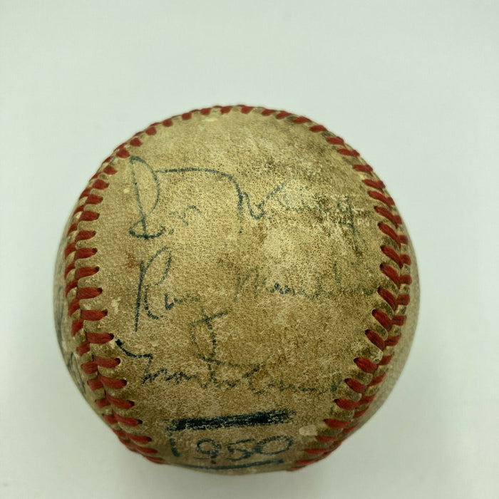 1950 Minor League All Star Game Team Signed Game Used Baseball JSA COA