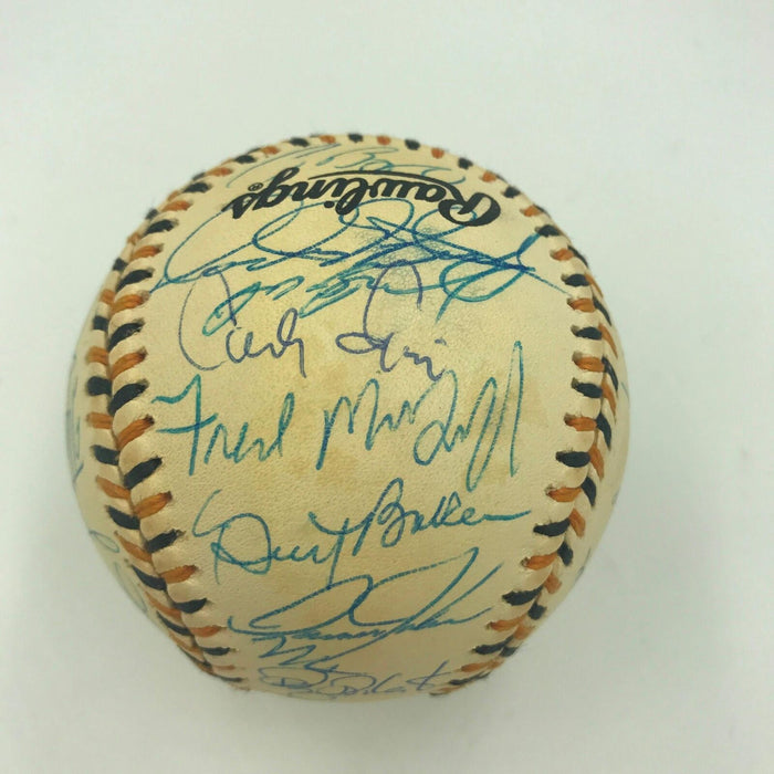 1994 All Star Game NL Team Signed Baseball Bonds Maddux Gwynn Biggio PSA DNA COA