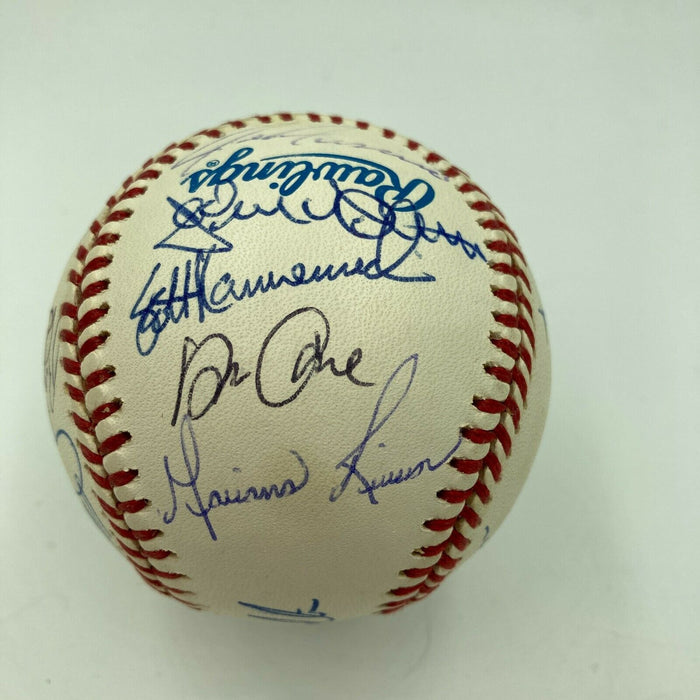 Derek Jeter Mariano Rivera Cour Four Rookie 1995 Yankees Signed Baseball JSA