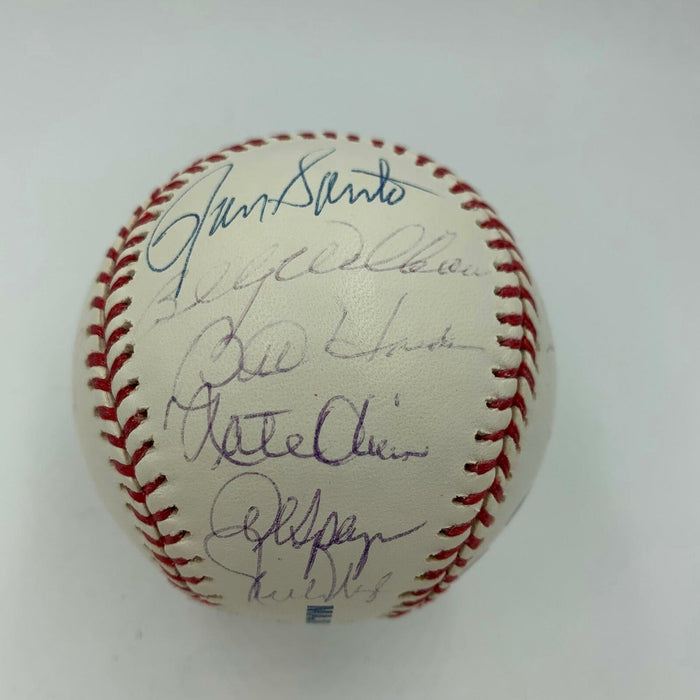 Rare 1969 Chicago Cubs Team Signed Baseball Ernie Banks Billy Williams Santo JSA